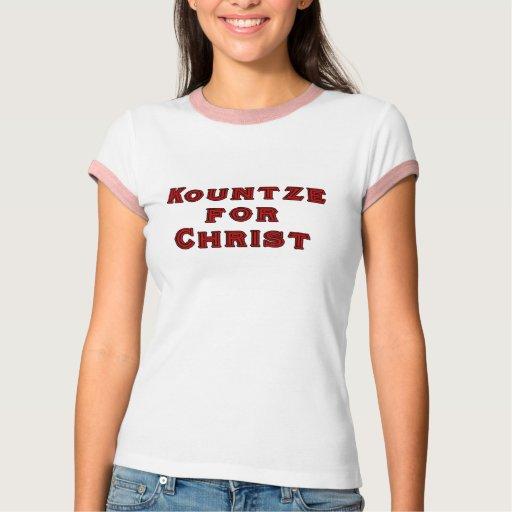 Kountze de las mujeres para la camiseta de Cristo
