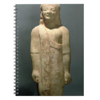 Kouros Dionysermos, Griego, período arcaico, c.600 Libretas