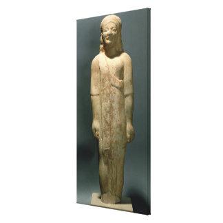 Kouros Dionysermos, Griego, período arcaico, c.600 Lona Envuelta Para Galerías