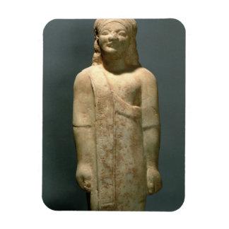 Kouros Dionysermos, Griego, período arcaico, c.600 Rectangle Magnet