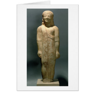 Kouros Dionysermos, Griego, período arcaico, c.600 Tarjeta De Felicitación