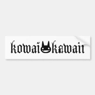 Kowai/Kawaii Logo Bumper Sticker