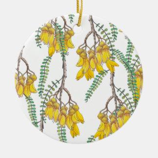 Kowhai Ceramic Ornament