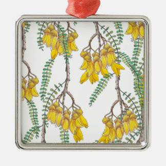 Kowhai Metal Ornament