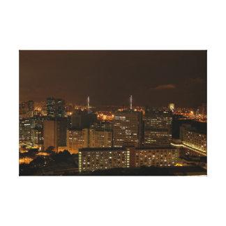 Kowloon at Night. Canvas Print