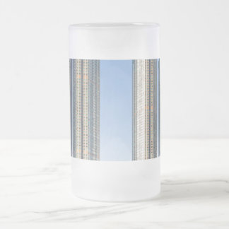 Kowloon Station Union Square, Hong Kong 16 Oz Frosted Glass Beer Mug