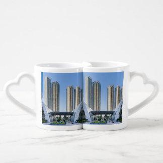 Kowloon Station Union Square, Hong Kong Couples' Coffee Mug Set