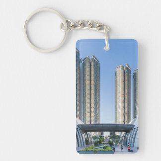 Kowloon Station Union Square, Hong Kong Single-Sided Rectangular Acrylic Keychain