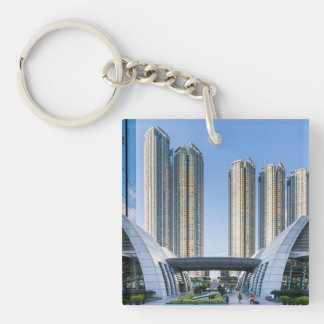 Kowloon Station Union Square, Hong Kong Double-Sided Square Acrylic Keychain