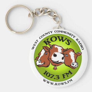 kows logo basic round button keychain