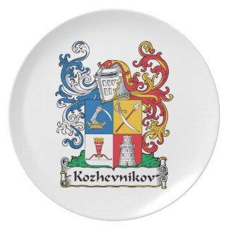 Kozhevnikov Family Crest Melamine Plate