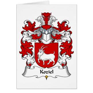 Koziel Family Crest Greeting Card