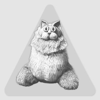 Kozy Kat Triangle Sticker