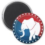 Kozzi-illustrated-image-of-a-elephant-badge-5000x5 2 Inch Round Magnet