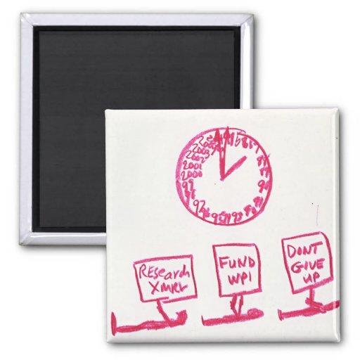 kp-clock square magnet