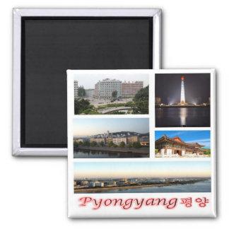 KP - North Korea - Pyongyang - Mosaic - Collage Magnet