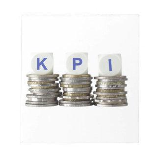 KPI - Key Performance Indicator Notepad