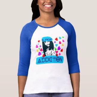╚»♪♥KPOP-Addiction 3/4 Sleeve Raglan(Fitted)♥♫«╝ T-Shirt