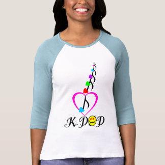 """╚"""" ♪♥KPOP-Apego ╝ de 3/4 de la manga ♥♫ del raglán Camisetas"""