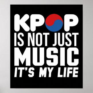 Kpop es mis gráficos del lema de la música de la póster