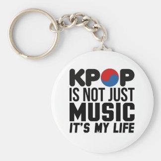 Kpop Is My Life Music Slogan Graphics Basic Round Button Keychain