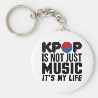 Kpop Is My Life Music Slogan Graphics Keychain