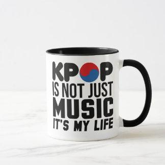 Kpop Is My Life Music Slogan Graphics Mug