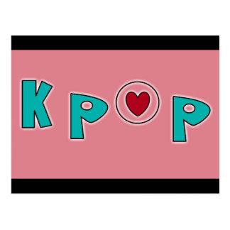 KPOP music Postcard