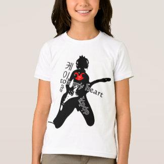 KPOP took my heart Girls Ringer T-Shirt