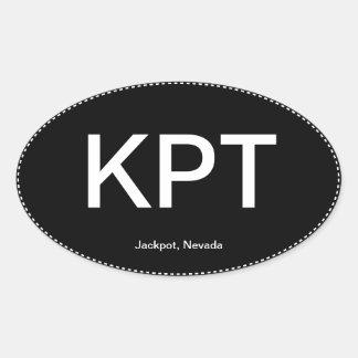 KPT Jackpot Nevada Oval Bumper Sticker
