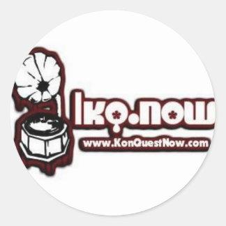 KQNow Round Sticker