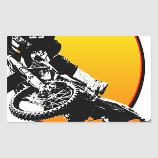 KR94bikebrapsun.png Rectangular Sticker