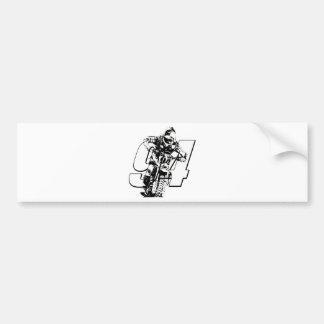 KR94bikeghostwhite.png Bumper Sticker