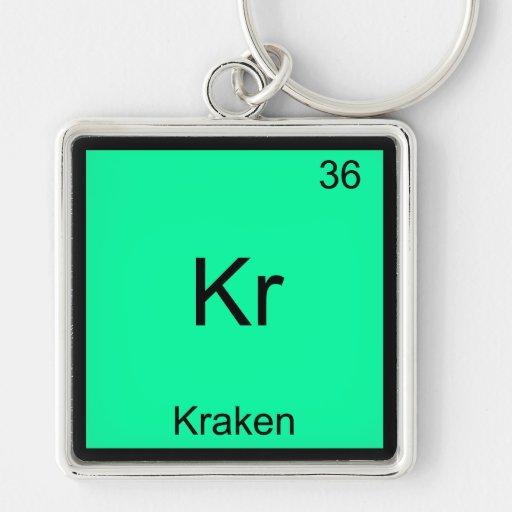 Kr - Camiseta divertida del símbolo del elemento d Llaveros Personalizados
