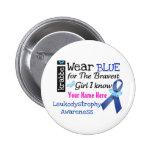 Krabbe Awareness button  _I wear BLUE