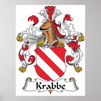 Krabbe Family Crest Print