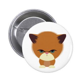 Krabby Kitty Pinback Button