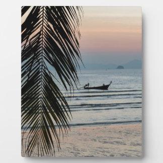 Krabi beach display plaques