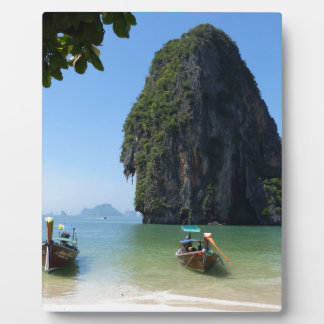 Krabi beach, Thailand. Photo Plaque