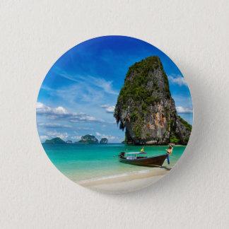 Krabi island pinback button