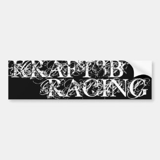 KRAFT3B RACING BUMPER STICKERS