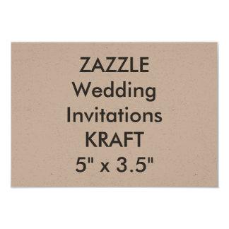 "KRAFT 100lb 5"" x 3.5"" Wedding Invitations"