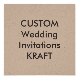 KRAFT 5.25u0026quot; Square Wedding Invitations