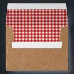 "Kraft and Red Gingham Envelopes BBQ Picnic<br><div class=""desc"">Kraft and Red Gingham Envelopes BBQ Picnic Party</div>"