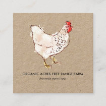 Kraft Business Card | Chicken Illustration