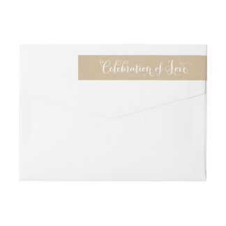 Kraft Celebration of Love | Wedding Envelope Wrap Around Label