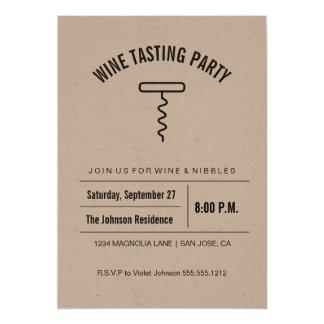 Kraft Collection Wine Tasting Invitation