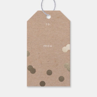 Kraft confetti | Gift tags Pack of gift tags