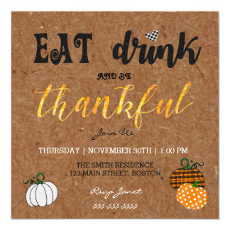 Kraft Eat And Drink Thanksgiving Party Invitations