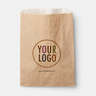 Kraft Favor Bags with Custom Logo Branding in Bulk